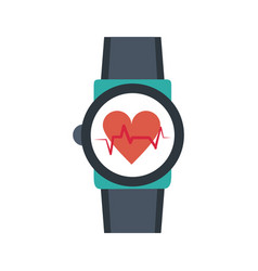 Smartwatch hearbeat technology vector