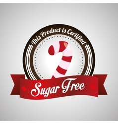 Sugar free design candy concept sweet icon vector image