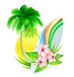 Summer insignia vector