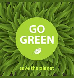 Sustainable environment saving environmental vector