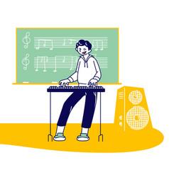 Talented little artist perform popular composition vector