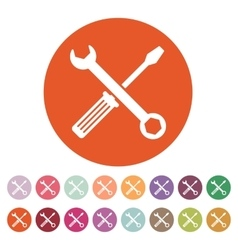 The wrench and screwdriver icon Settings symbol vector image