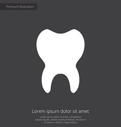Tooth premium icon white on dark background vector