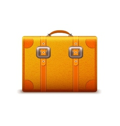 Travel suitcase emblem vector