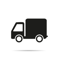 truck icon with shadow vector image