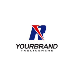 unique logo that forms letter r matches your vector image