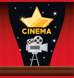 video camera with reel to film scene vector image