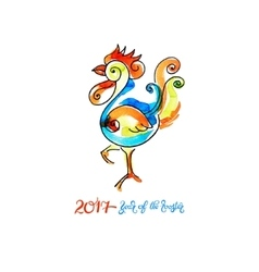 watercolor design for new year celebration vector image