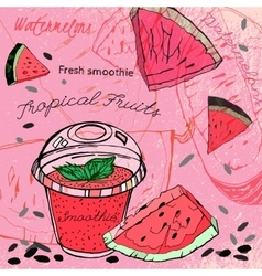 Watermelon Smoothie 01 A vector image