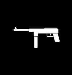 White icon on black background military machine vector