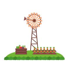 windmill farm fresh vector image