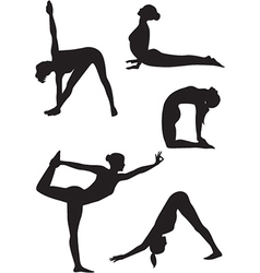 Yoga women icons vector image