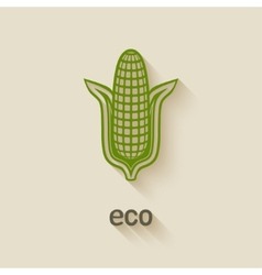 Corn eco symbol vector