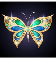 Golden butterfly vector