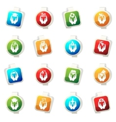 Insurance hands icons vector image