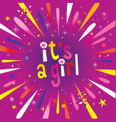 its a girl burst explosion vector image vector image