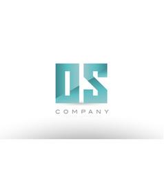 Os o s alphabet letter green logo icon design vector