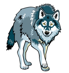 standing wolf vector image