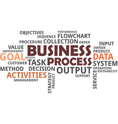word cloud - business process vector image