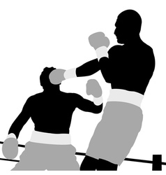 boxing champion vector image vector image