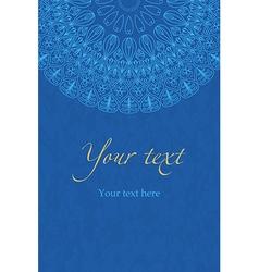 ethnic boho blue pattern mandala vector image vector image