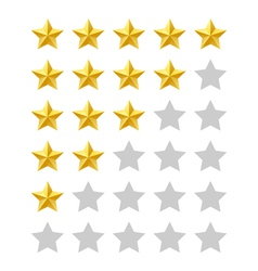 Five stars rating vector image