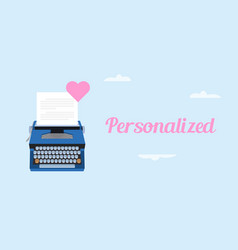 get personalized love letter with vector image