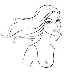 woman line vector image vector image