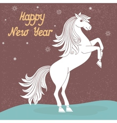 Year of horse vector image