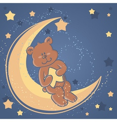 bear sweet dreams card vector image
