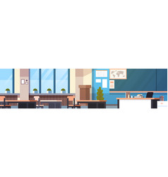 class room interior horizontal banner empty school vector image