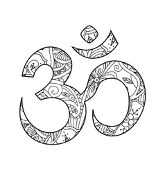 Om or Aum sign ornated in henna tatoo mehendi vector image vector image