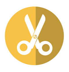 scissorsschool tool icon shadow vector image