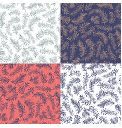 set patterns decoration vector image vector image