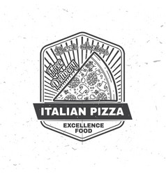 vintage fast food badge banner or logo emblem vector image
