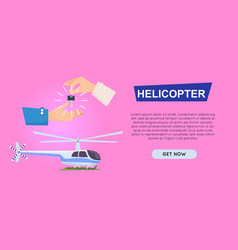buying new helicopter online web banner vector image
