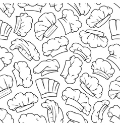 Chef hat baker toque cook cap seamless pattern vector image