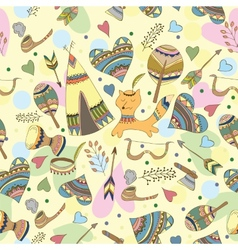 Indian doodle pattern vector image