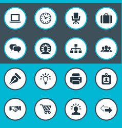 set of simple b2b icons vector image