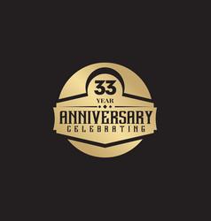 33th year anniversary logo design template vector