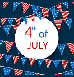 4th july card with flags vector image