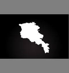 Armenia black and white country border map logo vector