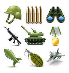 Army icons set vector