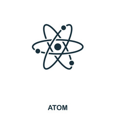atom icon line style icon design ui vector image