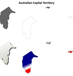 Australian capital territory outline map set vector