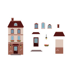 cartoon house lantern house l with separate vector image