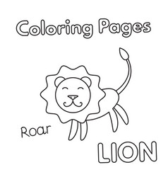 cartoon lion coloring book vector image