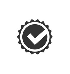 check approved icon graphic design template vector image