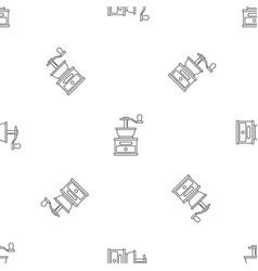 coffee grinder pattern seamless vector image
