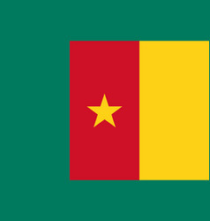 Colored flag of cameroon vector